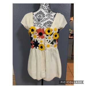 "MOTH/ANTHRO ""Park Days Flower Cardigan"" Top"